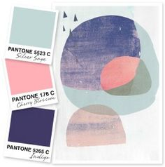 Mint, Pink and Navy- Sarah Hearts - color palettes