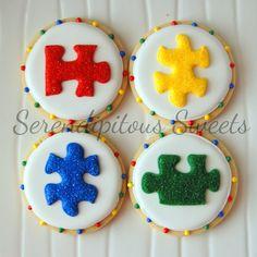 One Dozen Autism Puzzle Cookies. $30.00, via Etsy.