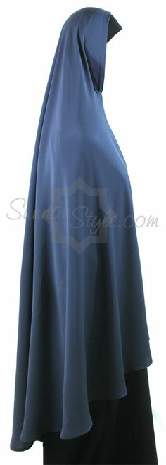 Knee Length Khimar (Steel Blue) by Sunnah Style Muslimah Clothing, Abayas, Kaftan, Hijab Fashion, Layers, Skirts, How To Wear, Essentials, Steel