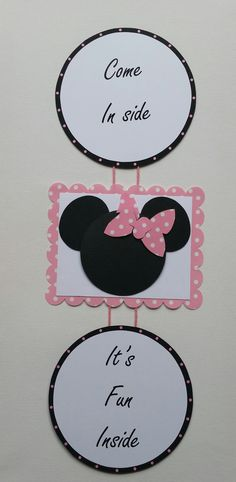 Minnie mouse birthday, door sign, welcome sign, minnie mouse birthday decorations, girl's birthday,minnie mouse welcome note.