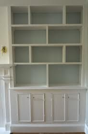 built in shelving white - Google Search