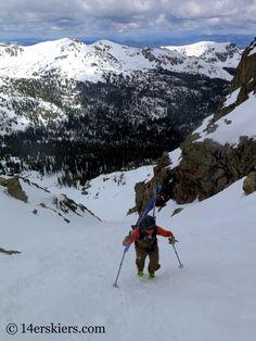 FRANK Konsella on Northstar Couloir on North Arapahoe Peak in Colorado