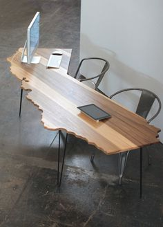 California Office Desk and Dining Table // Sun by MonkandHoney