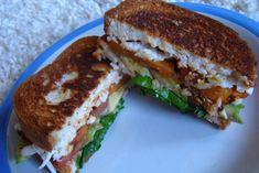 GF BBQ Sweet Potato & Avocado Grilled Cheese Sandwich