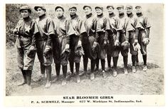 The Bloomer Girls era lasted from the until They always had at least one male player. They crisscrossed the country playing men`s professional and semi pro teams. Michigan, New Ulm, Star Wars, Bikes For Sale, Many Men, Men Street, Interesting History, Victorian Gothic, Social Issues