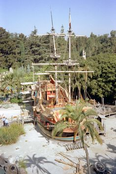 Captain Hooks pirate Ship just before demolition, 1982...makes me sick!  Why do they remove the best things?