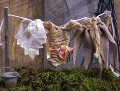 Fairy Garden Miniature Clothesline with by GreenbriarCreations, $18.95