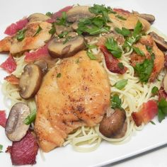 Chicken breasts are sauteed with butter, mushrooms, and prosciutto in this paleo-friendly chicken Marsala dish that's perfect for company. Chicken Recipes Video, Meat Recipes, Paleo Recipes, Dishes Recipes, Delicious Recipes, Recipies, Tasty, Chicken Mushroom Marsala, Marsala Recipe