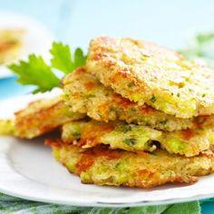 Tortitas de Brócoli con Queso Cheddar y Quinoa