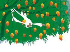 Le singe et l'épi de maïs by Guillaume Plantevin, via Behance