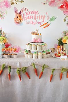 Throw a spring-inspired celebration with this Bunny-Themed Birthday Party. Great for a first-birthday celebration, this carrot-filled garden party is a sweet way to soak up some sunshine and enjoy some homemade treats. Keep the smash cake messes under control with Bounty Paper Towels!
