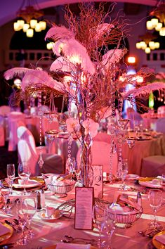 All pink table decor - I'd recommend a second color... black or white or both?