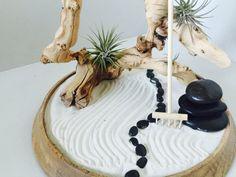 Zen garden//Air-plant terrariums// by Thesecretgarden630 on Etsy