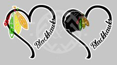 Blackhawks Chicago Stanley Cup Skyline Hockey Heart Decal Car - Window stickers for cars chicago