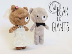 We bear like giants - Amigurumi Wedding cake topper @mycodenameismilk.wordpress.com