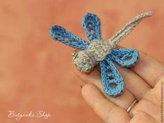 Вяжем крючком забавную стрекозу - Ярмарка Мастеров - ручная работа, handmade