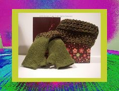 Handcrafted With Love Auctions: Artistic Funk offering Funky Handmade SET Cowl Neck Scarf and Fingerless Gloves. STARTING BID: $25 (Retail Value: 35)