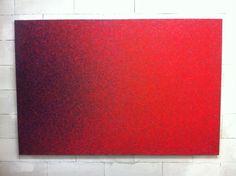 Luca Macauda, pastel in canvas, 135x205cm, 2014 at A+B, Brescia