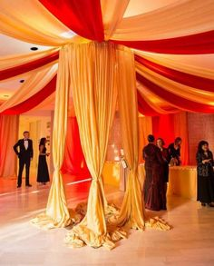 This beautiful draping completely transforms the Riggs rotunda! #Riggs4Events #weddingvenue #decor #weddinginspiration #tapestry