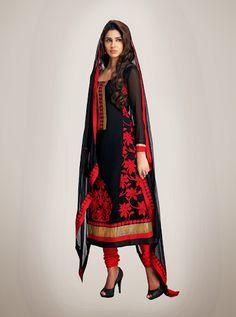 Chic Black Salwar Kameez | StylishKart.com