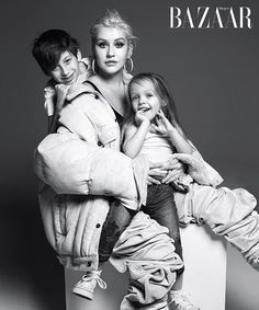 Kanye West, Christina Aguilera, Mariah Carey and more music icons posed with their kids for the September 2018 issue of 'Harper's Bazaar' — see the pics Mario Sorrenti, Bruce Springsteen, Mariah Carey, Celebrity Moms, Celebrity Pictures, Celebrity Style, Kanye West, Blonde Singer, Vogue