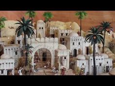 Casas para pesebres. - YouTube Christmas Manger, Christmas Nativity Scene, Christmas Diy, Journey To Bethlehem, Matchbox Crafts, City Layout, Diy Nativity, Christmas Village Display, Xmas Decorations