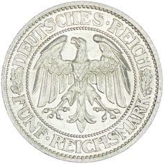 5 Reichsmark 1932 A Eichbaum, Silber