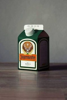 Artist Jorn executed a unique set of beverage cartons out of famous alcohol brands. Even if these are just conceptualized, I too would like to live in a world where this is a real product. Jack Daniel's, take note! Milk Packaging, Cool Packaging, Beverage Packaging, Brand Packaging, Packaging Design, Absolut Vodka, Jack Daniels, Limoncello, Promo Flyer