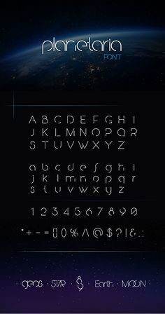 Planetaria Font. Professional font. #font #design #art #digitalArt #webDesign #printDesign #cosmic #futuristic #galaxy #planet #rocket #space #star #universe