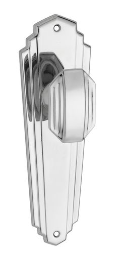 Chrome Art Deco Passage Door Handle (Pair)