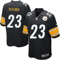 b15cb907680 Nike Limited Mike Wagner Black Youth Jersey - Pittsburgh Steelers  23 NFL  Home