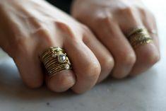 Oh my god, SERIOUSLY. Look at those rings! Studio visit with Satomi Kawakita.