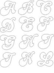 Laura Meizoso uploaded this image to 'Minimundofofuchas/Letras'. See the album on Photobucket. Alphabet Templates, Alphabet Stencils, Cursive Alphabet, Alphabet And Numbers, Royal Icing Templates, Baby Motiv, Graffiti Lettering, Lettering Styles, Scroll Saw Patterns