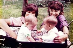 Royal carriage: Kate (left) shares a pram with Nicola, Kate's first 'pram buddy', who lived in Bradfield Southend, the village near Reading, Berkshire where Michael and Carole Middleton bought a modest Victorian semi in 1979