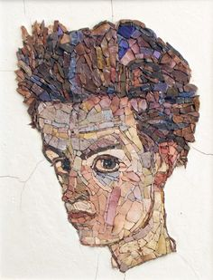 mosaic from Egon Schiele's drawn  27*35 cm