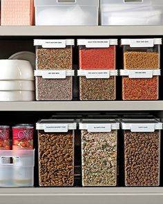 martha stewart stackable food storage containers and organizers Kitchen Size, Kitchen Tops, Kitchen Pantry, Kitchen Shelves, Diy Kitchen, Kitchen Gadgets, Kitchen Ideas, Kitchen Design, Food Storage Organization