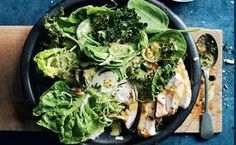 Chicken Caesar Salad With Crispy Kale / Photo by Chris Court and William Meppem