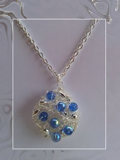 Handmade Necklace  Wire Mesh Art Jewellery  by AmandaHLCreations, £5.99
