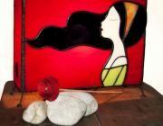 Aplique de vidrio tiffany - artesanum com