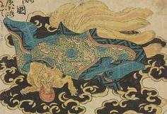 【江戸妖怪大図鑑/第3部「妖術使い」開催中】『NARUTO』といえば、九尾のクラマにも元ネタが。有名でしょうが、白面金毛九尾の狐という化け物で、美女に化けて人間をたぶらかしました。こちらは国芳が描く九尾の狐。