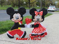 Piñata~Minnie or Mickey Piñata  by Marlenespinatas on Etsy