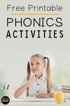 Looking for engaging phonics worksheets for your spelling or word work literacy centers in first or second grade?  You'll love these free printable phonics activities for vowel sounds, silent letter digraphs, and ng words!  Improve your students phonics skills in no time with these fast and fun no prep elementary activities!