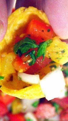 Inspired By eRecipeCards: Pineapple Pico de Gallo (Pineapple Salsa)