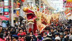 Turistas começam a chegam ao Japão para o feriado do Ano Novo Chinês. A chegada de turistas que passam o feriado do Ano Novo Lunar no Japão começou nesta