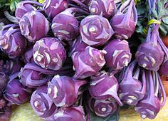 Rabbit Fields Farm: Kohlrabi Bouquet at Bellingham Farmers Market