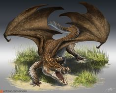 ArtStation - Crocodile Dragon, RJ Palmer