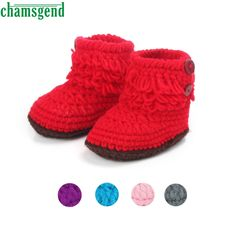 >> Click to Buy << CHAMSGEND baby shoes baby moccasins cute winter autumn Baby Girls Crochet Handmade Knit High-top Tall Boots Shoes S35 #Affiliate