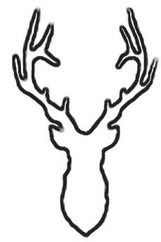 Glass etching stencil of Whitetail Buck. In category