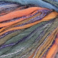 "Tahki Yarns Presto. $4.49/60 yd=7.5C/yd.  48% Wool/46% Acrylic/3% Nylon/3% Mohair; Weight/Yardage: 50g/60yd; Gauge: 3 sts = 1"" on US 13; Knitting Weight: Bulky Tahki Presto is an interesting blend of wool, acrylic, nylon and mohair. This multicolored yarn is somewhat thick & thin so it will add texture to your project. Tahki Presto is a chunky weight yarn that will work up quickly. It is made up of two strands; a thick wooly one and a thin shiny one."