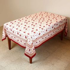 Tablecloth Rectangular 152 X 228 Indian Decor Spring Floral Cotton By  ShalinCraft, Http:/